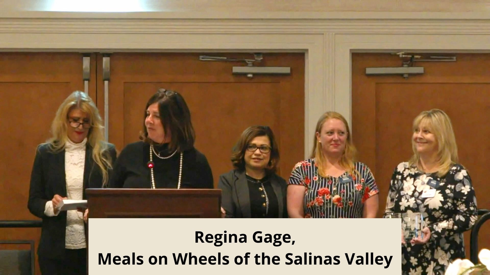 Regina Gage, Meals on Wheels of the Salinas Valley